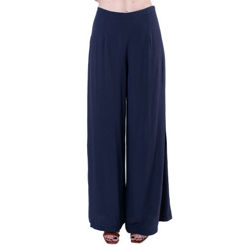 AGGEL WOMENS BLUE HIGH WAIST TROUSERS S20137 ΜΠΛΕ