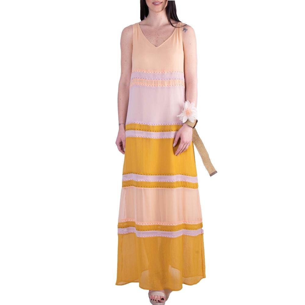 FRACOMINA LONG DRESS SANDLIME FR20SMILDA - 709