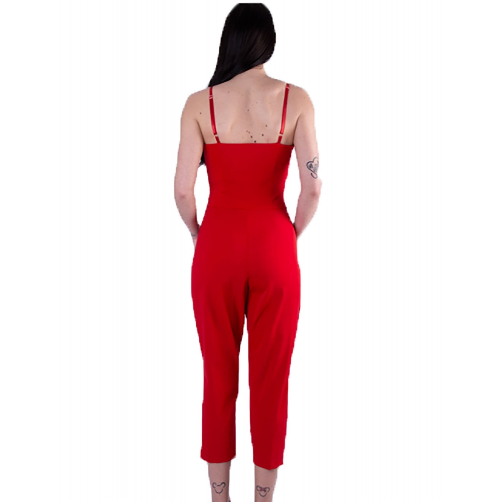 FRACOMINA WOMANS RED OVERALL TROUSERS CAROTTS R20SM696 - 234  RED