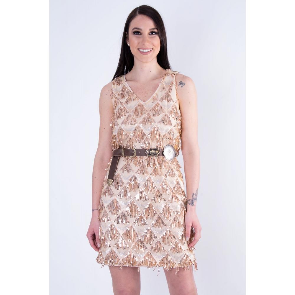 FRACOMINA A LINE DRESS FR19SP576- 103 CIPRIA