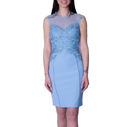 LIPSY EVENING TIGHT MIDI DRESS AH7858  BLUE