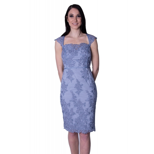 LIPSY EVENING LACE MIDI DRESS AB8775 BLUE