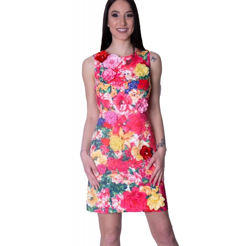 ALLURE FLORAL SHORT DRESS  2500 FLORAL