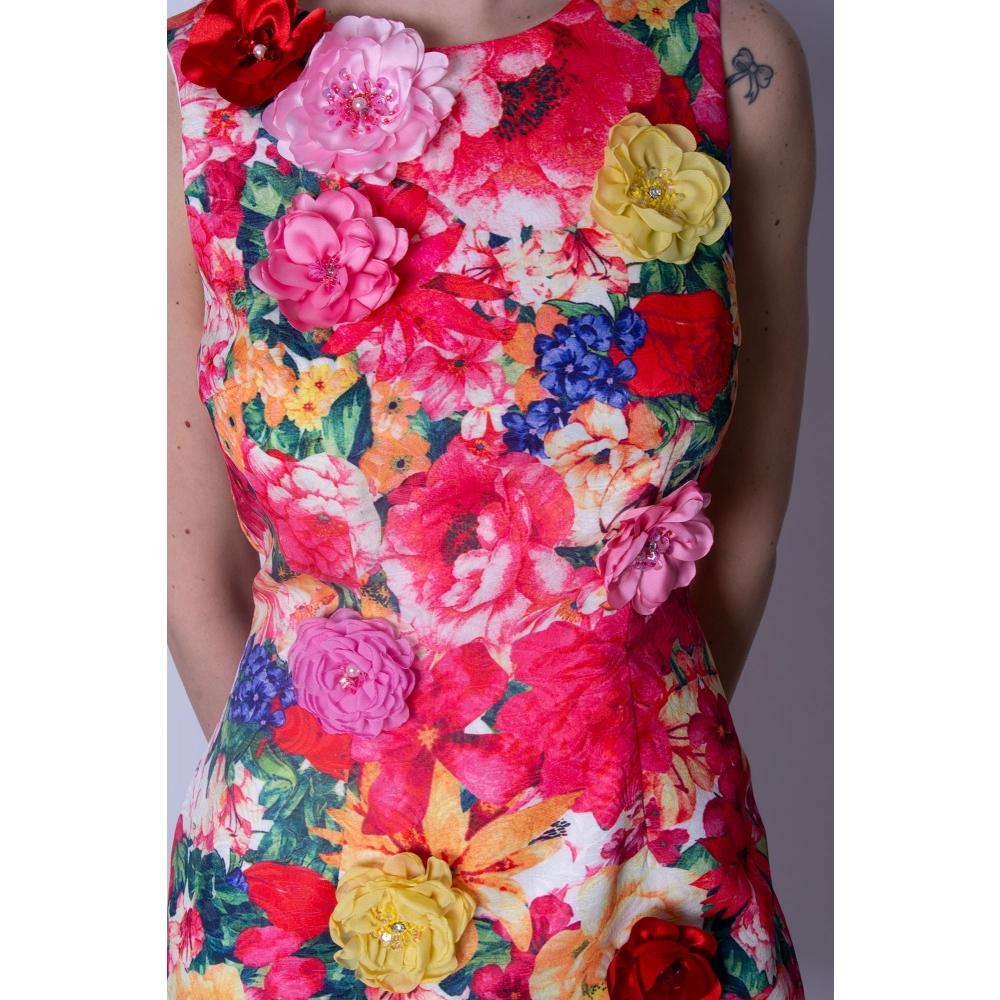 ALLURE FLORAL SHORT DRESS  2500 FLORAL