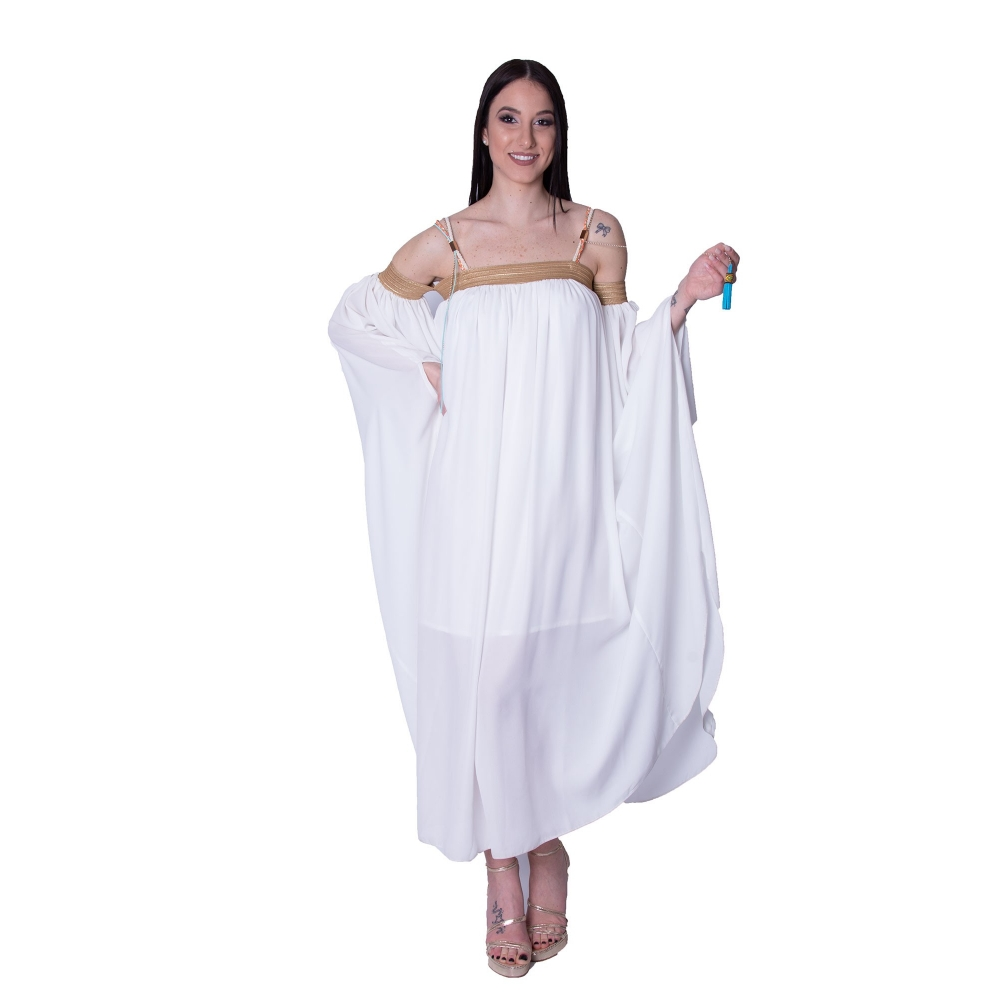 L EDITO WHITE LONG DRESS