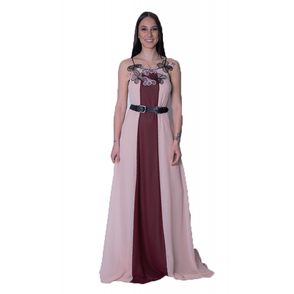 ULY TWO EVENING LOG DRESS NUDE / GRENA