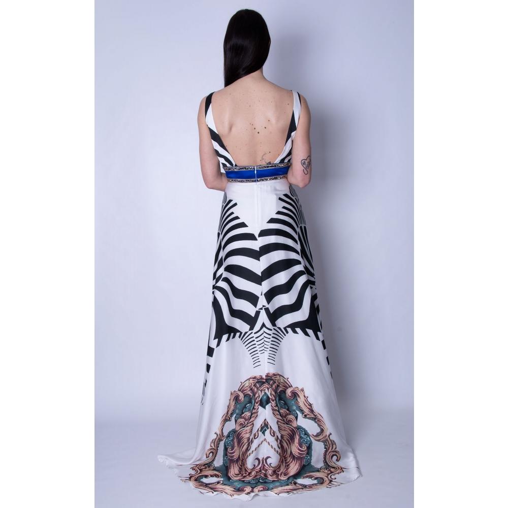 MISCHALIS EVENING FLORAL LONG DRESS