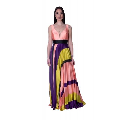 MISCHALIS SATIN LONG DRESS