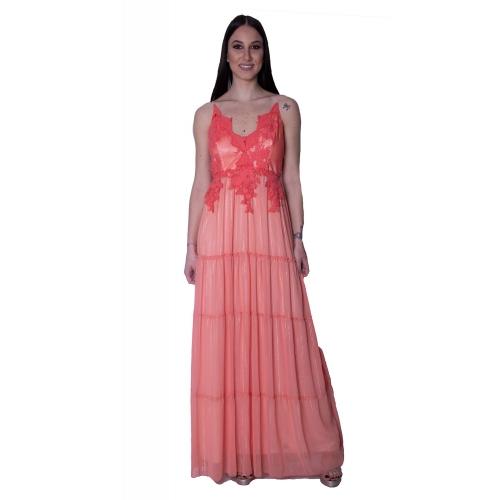 RINCESS EVENING LONG DRESS 104/7517 CORALLINE