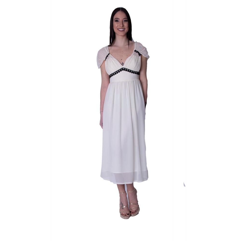 LOVE T ALICIA EVENING OF WHITE MINTI DRESS 111103