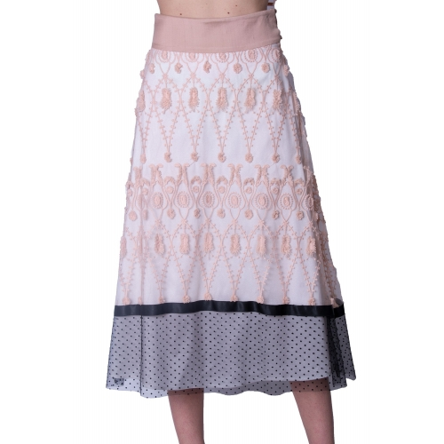 MISCHALIS EVENING EMBROIDERY MINTI SKIRT