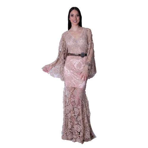 BONJOUR MADEMOISELLE EVENING LACE MERMAID LONG DRESS