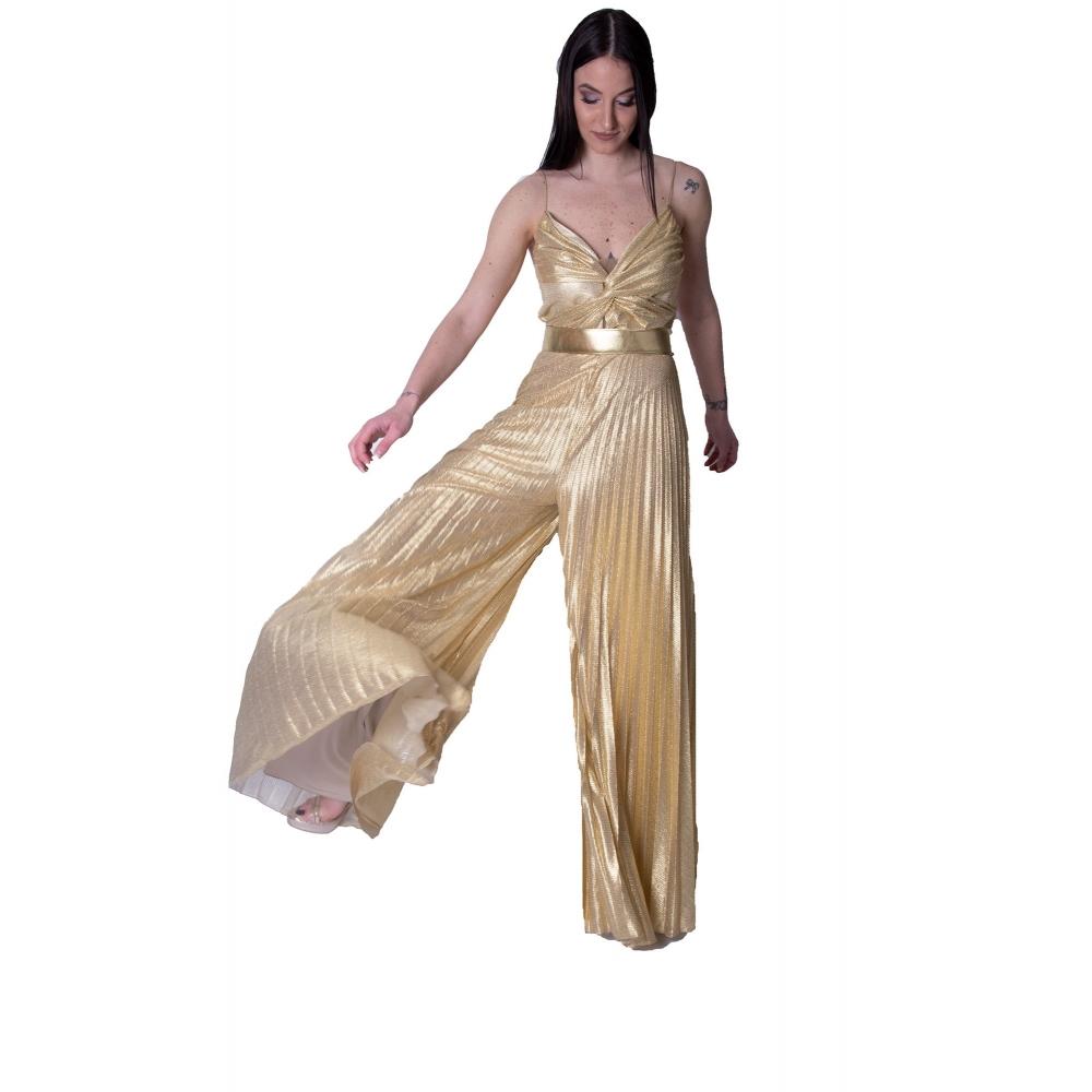 MISCHALIS EVENING GOLD GLAMOROUS JUMPSUIT K3-5335 GOLD