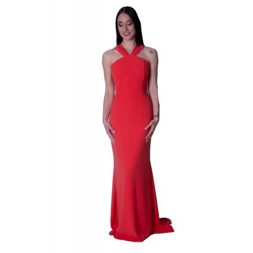 MISCHALIS EVENING MERMAID LONG DRESS  H7836  Red