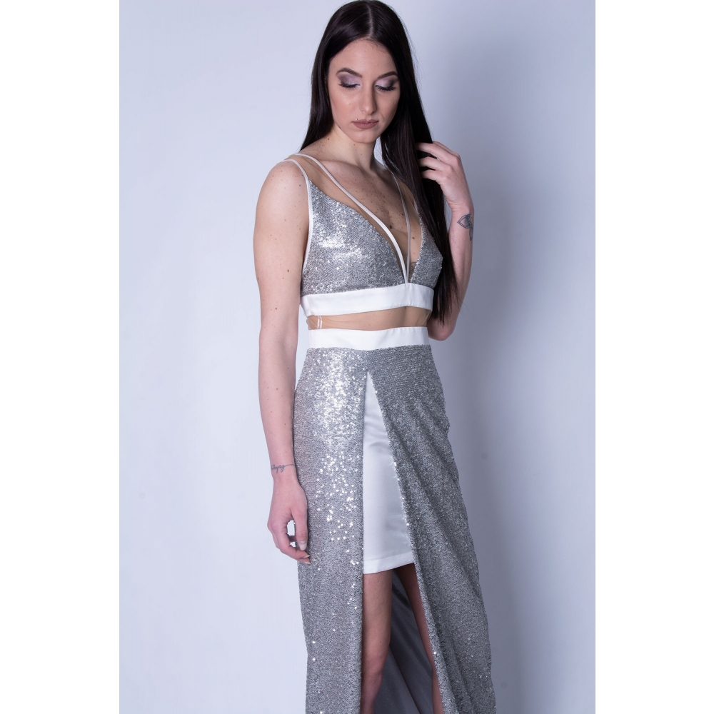 MISCHALIS EVENING GLAMOROUS LONG DRESS