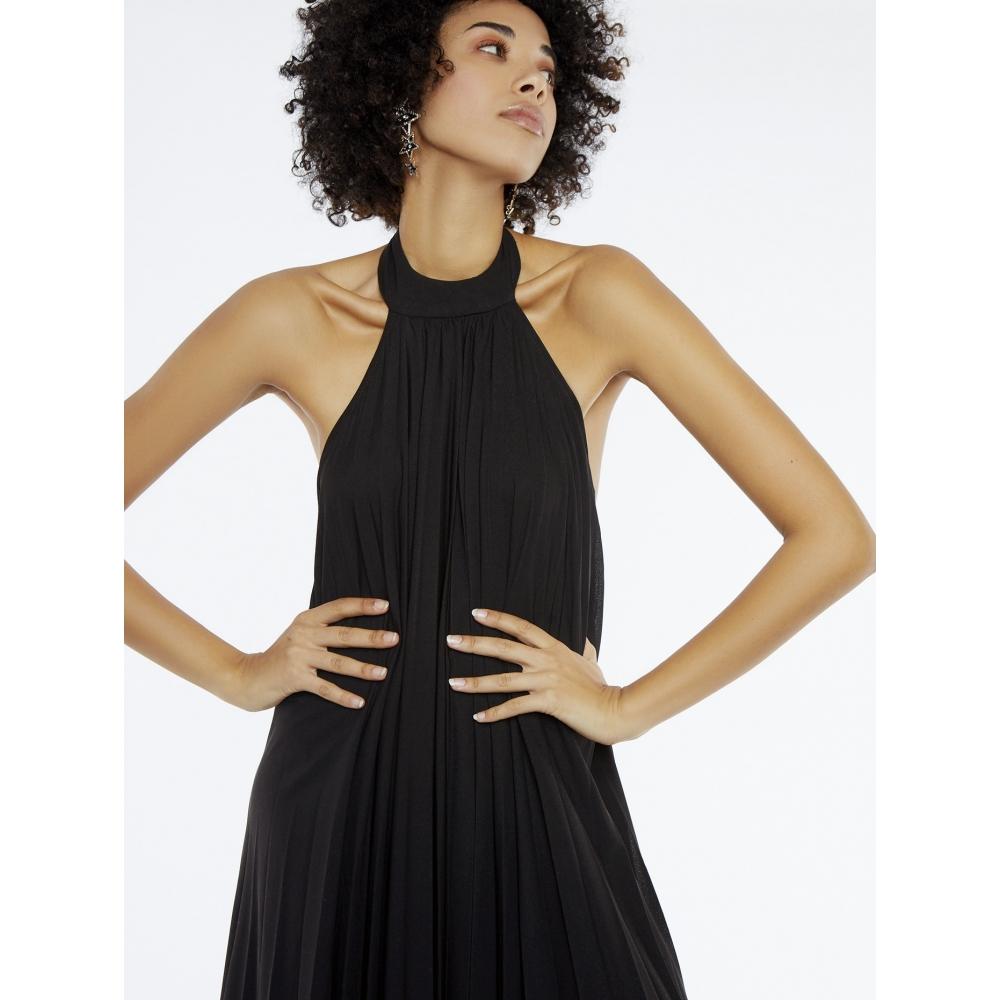 MEISIE BLACK DRESS WITH OPEN BACK M21- V13P20  BLACK