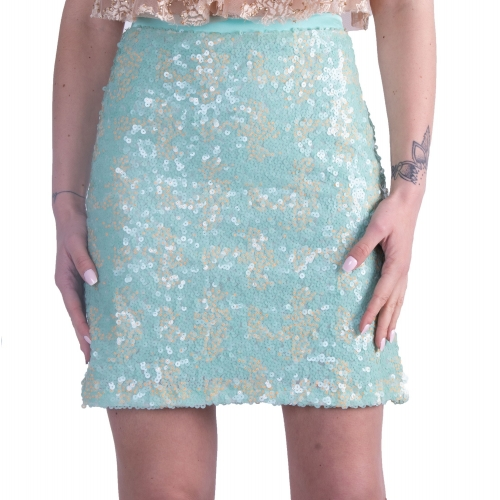 ANNA SAMOUKA EVENING MINI SKIRT FS18 MENTA