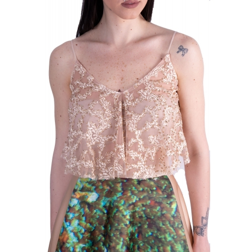 PRINCESS EVENING GLAMOROUS CROP-TOP 127/4519 NUDE/GOLD