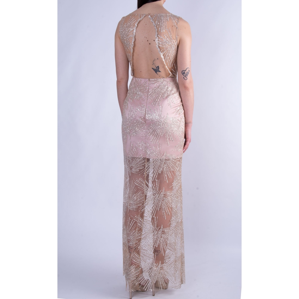 MISCHALIS EVENING GLAMOROUS TULLE LONG DRESS