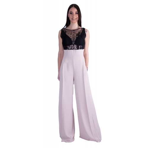 MISCHALIS EVENING JUMPSUIT 5305-A BLACK/ECRU
