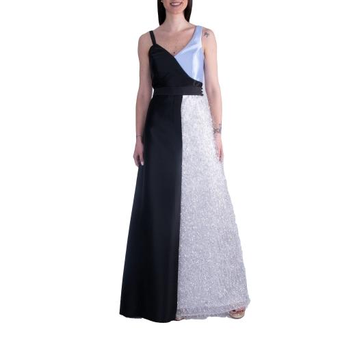 MISCHALIS EVENING GLAMOROUS LONG DRESS K4-8231 BLACK/ASIMI