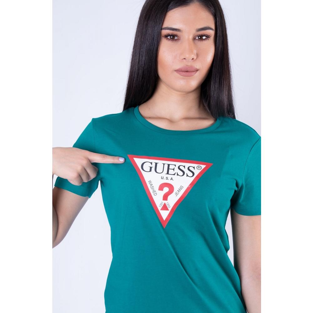 GUESS GREEN T-SHIRT W0YI57K8HM0 -  RYJ  GREEN