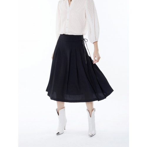 MEISIE BLACK MINTI SKIRT  M05-F32AU20 BLACK