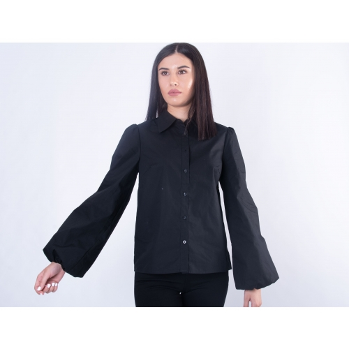 NA-KD BALLOON SLEEVE SHIRT   1018-004761 BLACK
