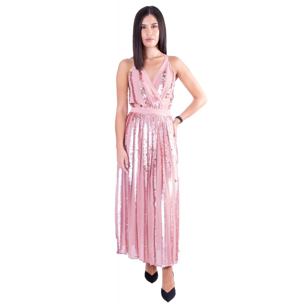FRACOMINA MINI DRESS F120W14017W00401 - 310 ANTIQUE ROSE
