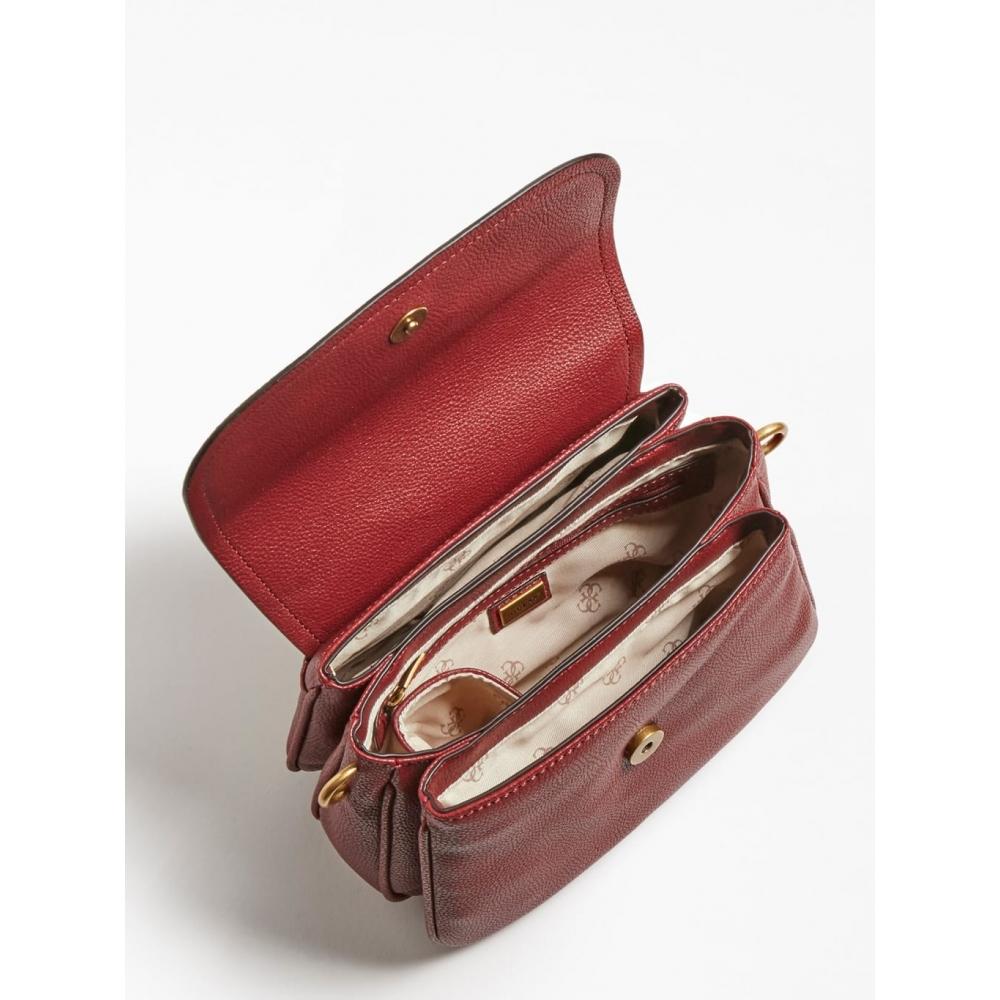 GUESS ΤΣΑΝΤΑ ΩΜΟΥ ΧΙΑΣΤΙ DESTINY STRAP SHOULDER BAG HWVB7878200 RED