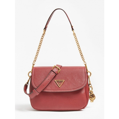 GUESS ΤΣΑΝΤΑ ΩΜΟΥ ΧΙΑΣΤΙ DESTINY STRAP SHOULDER BAG HWVB7878200 RED