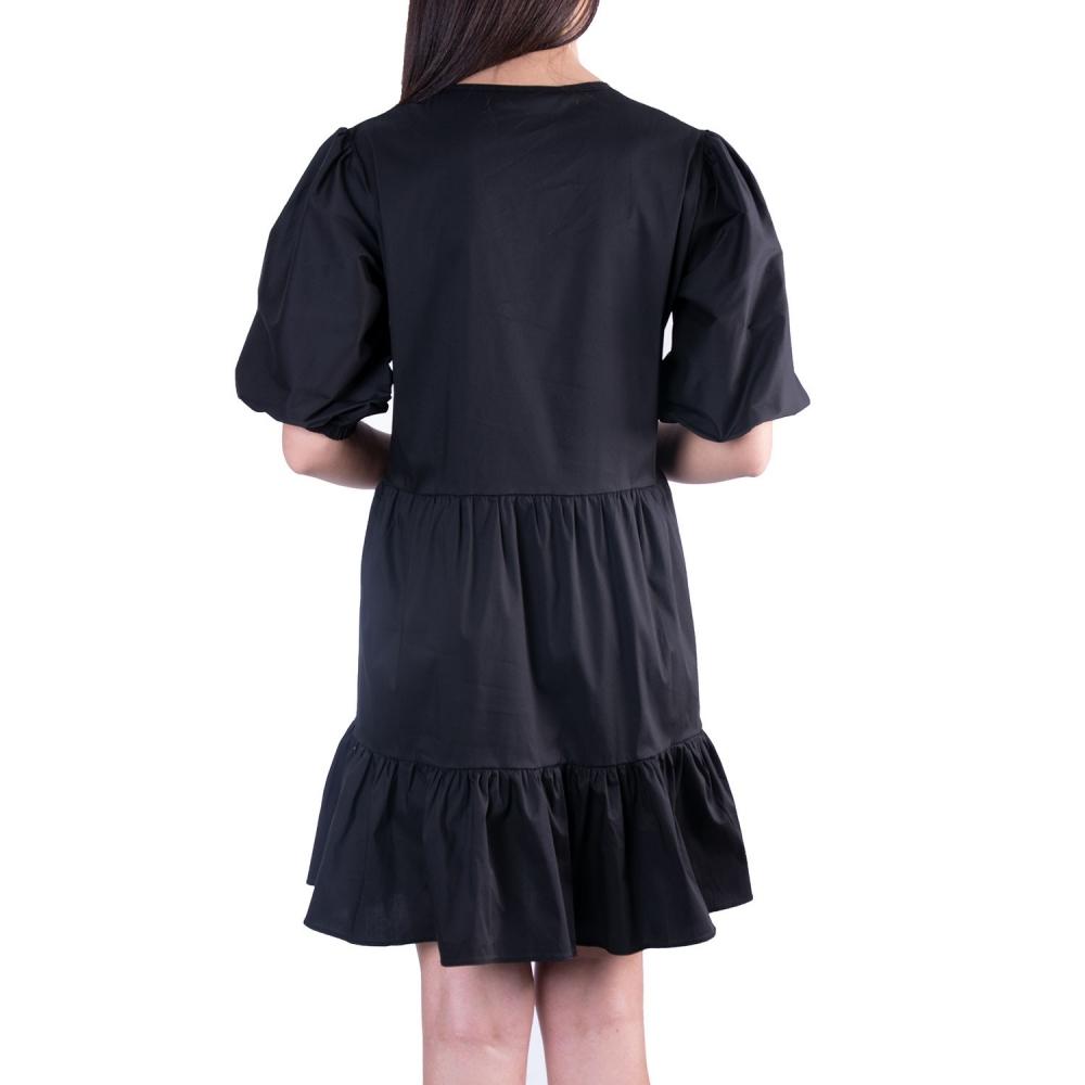 ANNA SAMOUKA BLACK MINI DRESS   10836 BLACK