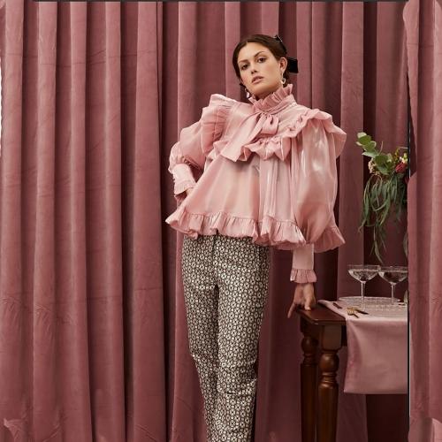 SISTER JANE GRAPEFRUIT RUFFLE BOW TOP Cropp-top BL967PNK  CANDY PINK